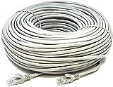 Mr. Tronic 30 Metros Cable de Red Ethernet Latiguillo 30m | CAT5e, AWG24, CCA, UTP, RJ45 | Color Gris