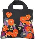 Envirosax Bloom Eco Reusable Shopping Bag - Black with Orange Flowers