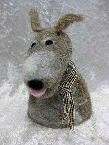 Aufsteller Filzaufsteller Hund dog Eierwärmer