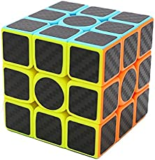 Axcone Cubo Rubik 3x3 Puzzle Magico Cubo Carbon Fiber Sticker Giocattolo,per Maggiore Rapidità e Precisione Puzzle Game e Regalo di Festa (3x3)