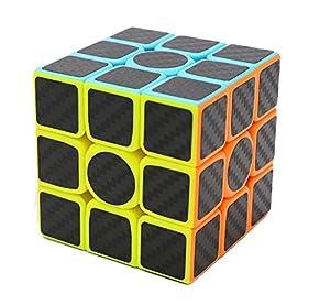 Axcone Cubo 3x3 Puzzle Magico Cubo Carbon Fiber Sticker Giocattolo,per Maggiore Rapidità e Precisione Puzzle Game e Regalo di Festa (3x3)