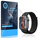 K&L LK [6 Stück] Schutzfolie für Apple Watch Series 5 44mm und Series 4 44mm Folie, [Kompatibel mit Hülle] [Blasenfreie] Klar HD Weich TPU Schutzfolie [Lebenslange Ersatzgarantie]