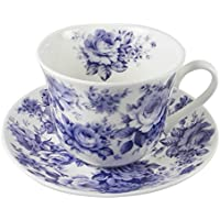 Roy Kirkham Blue Rose English Chintz Tea Cup and Saucer