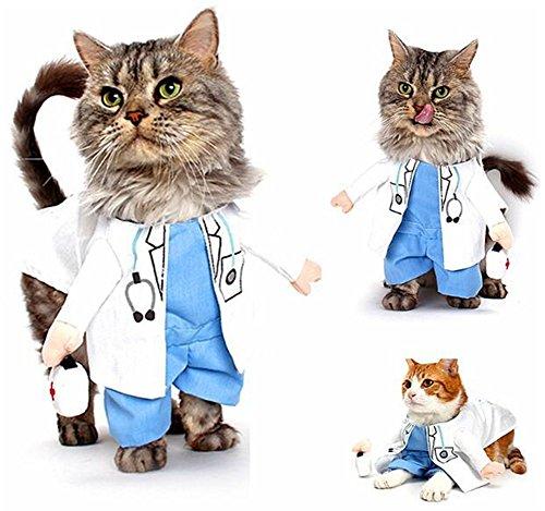 Pet Online Katzenkleidung Halloween verkleiden sich Verklärung Weihnachten lustige Haustierkleidung, Doktor, M