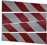 3M Container Warnmarkierung, selbstklebend, 141 mm x 705 mm, 4 Streifen (2 x links, 2 x rechts)