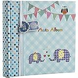 """Arpan Slip in Memo bleu bébé Garçon 200 photo pour 6x4 """"/ 15x10cm photo album--éléphant des gamins"""