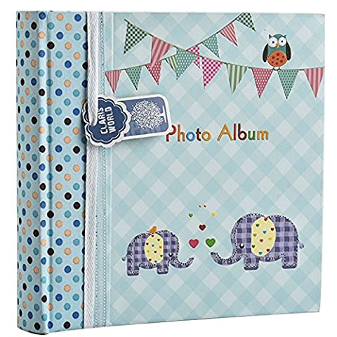 Arpan Large Baby Boy Blue Memo Slip In Photo Album