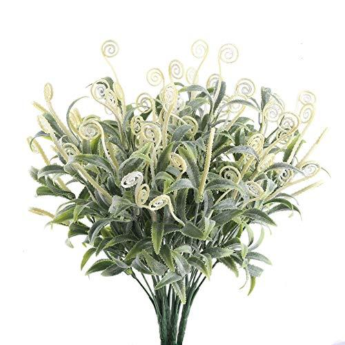 Nahuaa 4 Stück Künstliche Grün Büsche Gefälschte Draußen Pflanzen Zweige Kunststoff Künstlich Sträucher Tabelle Blumenarrangements Zuhause Küche Amtsstube Sprungfeder Deko