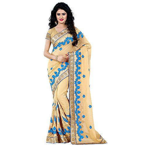 Being Banarasi Party Wear Faux Georgette Embroidery Saree(1137_E)