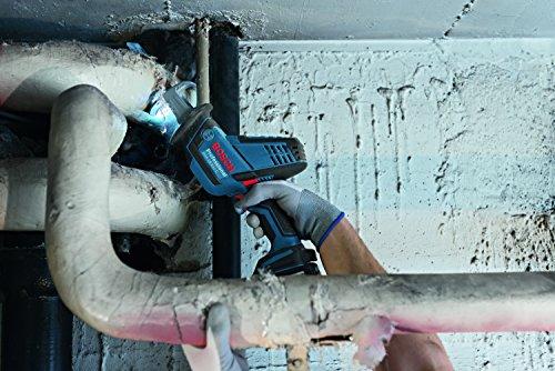 Bosch Professional Akku Säbelsäge GSA 18 V-LI C (2x 5,0 Ah Akku, Ladegerät, 3x Sägeblatt, L-Boxx, Schnitttiefe in Holz/Stahl: 200 mm/16 mm, 18 Volt) - 4