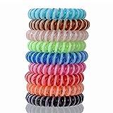 Set de 9cheveux en caoutchouc élastique tresse cheveux bande spirale tête bijoux bracelet bijoux cheveux