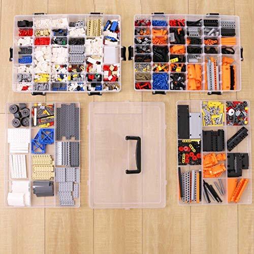 imentskasten Aufbewahrungsbox Kleinteile Sortierbox Portable Kunststoff-Aufbewahrungsbox Tiny Toy Box Abnehmbare Aufbewahrungsbox für Schmuck Veranstalter ()