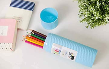 Portable Stripe Toothbrush Case by House of Quirk Toothbrush Holder Pen Pencil Stationery Box Case for Travel Used