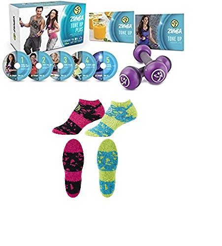 Zumba Fitness Tone Up 5 System DVD + Socken 2er Set -