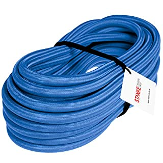 Seilwerk STANKE Gummiseil Expanderseil Blau 10 mm 15 Meter - Gummileine Spannseil Planenseil Gummischnur