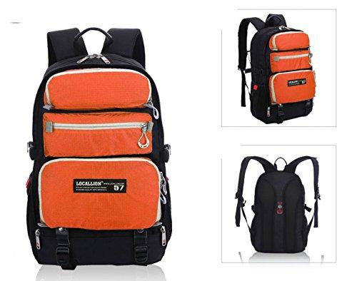Moda zaino in nylon Zaini computer borsa tracolla viaggio all'aperto di più , orange Orange