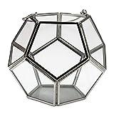Metall / Glas Windlicht Stavanger 14 cm Silber