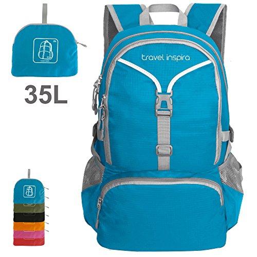 Imagen de  de viaje inspira 35 litros de peso ligero embalable  de senderismo  a mano plegable camping al aire libre, de la escuela, de ciclismo