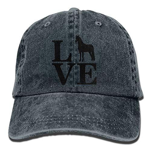 607cd662b98 Gxdchfj Men Women s Love Horse Farm Animal Vintage Cotton Denim Baseball  Cap Hat Fashion11