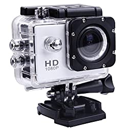 Lagfly Silver 8 MP HD 1080P DV Sports Action Camera Waterproof up to 30 Mtr