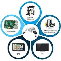 Câble d'extension de carte micro SD vers SD - Pour SD/RS-MMC/SDHC/MMC - Pour GPS de voiture