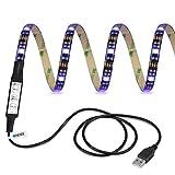 Ldex LED Streifen wasserdichte Leuchten TV-Hintergrundbeleuchtung 100cm 5V RGB