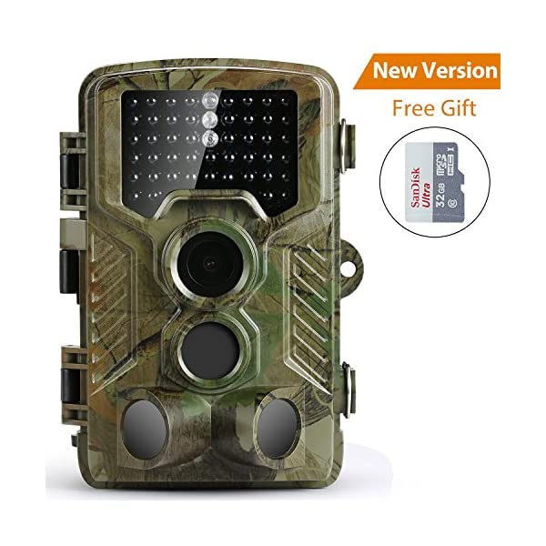 Wildlife Camera,Coolife Hunting Game Camera Trail Surveillance Waterproof 3 Zone Infrared Sensor 16MP 1080P HD With Time Lapse 82ft 125¡ã Wide Angle Night Vision for Wildlife with 32G SD Card