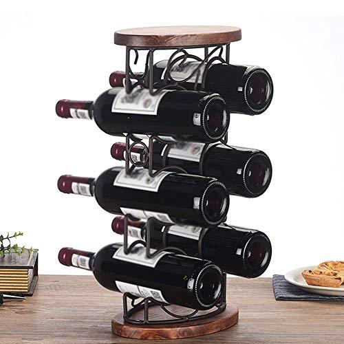 Características: 1. Hecho de material de hierro y madera de alta calidad, resistente y duradero en el uso. 2. Fácil de montar, se puede tomar hasta 6 botellas de vino a la vez. 3. El diseño sencillo pero elegante y el aspecto de buen aspecto lo hacen...