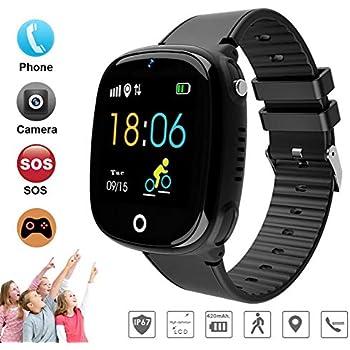 DUWIN Niños Inteligente Relojes, GPS Kids SmartWatch con Camara, Flash luz, SOS, Nocturna Pantalla táctil, Reloj Inteligente Anti - Lost Smart Tracker ...
