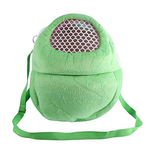 PET Tragetaschen Hamster Ratten Igel Kaninchen Schlafsack Breathable Portable Ausgehenden Reise Handtaschen Backpack Mit Schulterriemen ( Farbe : Grün )