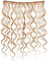 American Dream Soft Wave Extensions à clipser pour cheveux Couleur numéro 7OR, gingembre Crème 46cm