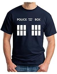 DR WHO POLICE BOX TARDIS NAVY HOODIE/T SHIRT