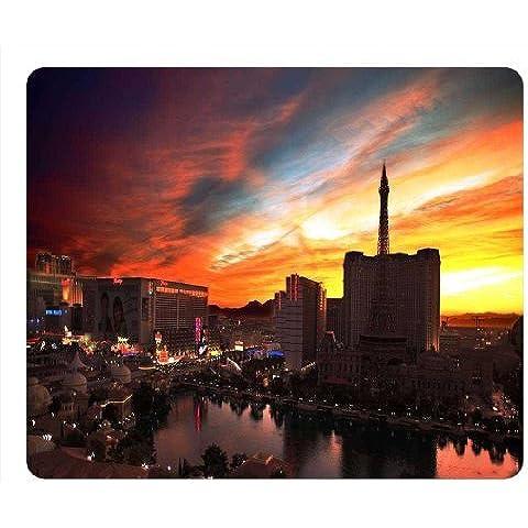 Personalized Design unico a forma oblunga mouse pad Torre Eiffel Las Vegas,