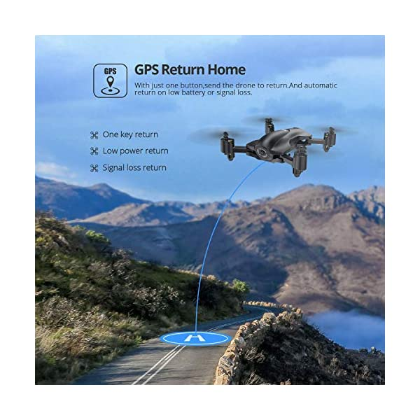Holy Stone HS165 GPS Drone with 2K HD Camera for Adults, Foldable Drone for Beginners, FPV RC Quadcopter with GPS Return Home, Follow Me, Altitude Hold and 5G WiFi Transmission Live Video 3