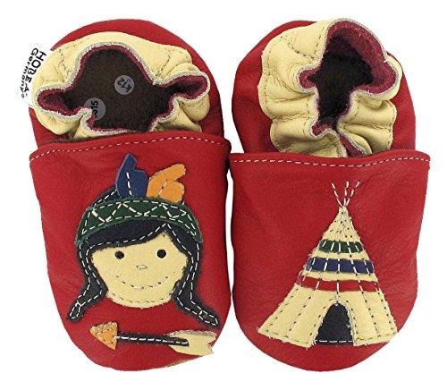 Baby Krabbelschuhe Jungens von HOBEA-Germany, Modell Schuhe:Indianer, Schuhgröße:22/23 (18-24 Monate) -