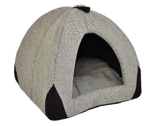 nanook Hundehöhle Katzenhöhle Woody 45 cm grau/schwarz