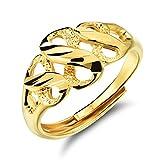 FJYOURIA - Anillo de oro de 18 quilates para mujer, ajustable, símbolo infinito