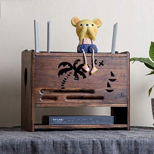 MTX Ltd Racks, Regale und Schubladen WiFi-Router-Set Top-Box DVD-Player Ablage Shelf Socket Indoor-Haushalt zu Hause Langlebig, Abnehmbar (Moderne Router Wifi)