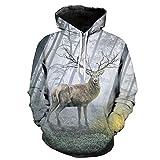 Mantel Weihnachten Herren,❤️Binggong Herren Weihnachtsbaum Drucken Hoodie Langarm Sweatershirt Tops