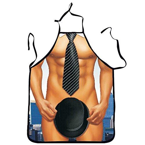 Lustige Grillschürze, sexy Männerschürzen, Kochen, Backen, Töpferei und Grillschürzen, Unterhaltungsparty, Cosplay-Kostüm, Geschenk für Unisex Erwachsene, 4#, 72 - Muskel Mann Kostüm