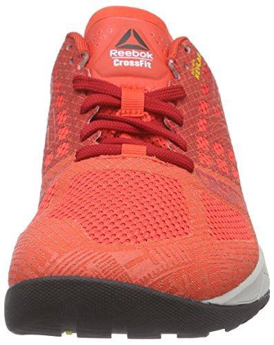 Reebok Crossfit Nano 5.0 Scarpe sportive indoor, Uomo Rosso/Grigio/Nero (Laser Rosso/Excellent Red/Steel/Shark/Black)
