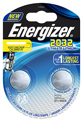 Energizer E301319300 Spezialbatterie / Lithium CR-Typ 2032 2 Stück Chrom