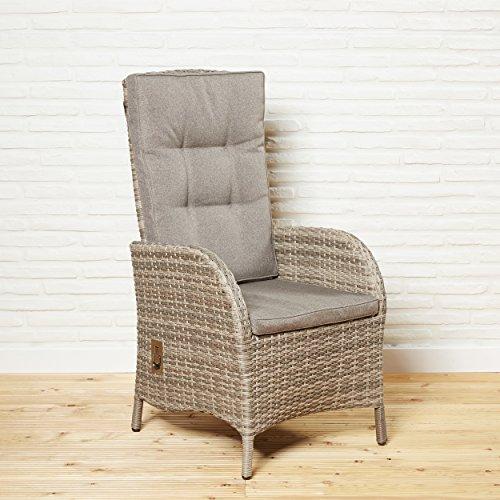 Gartenstuhl Rocking Chair Positionsstuhl Barcelona Für Die Terrasse Oder  Garten   Gartensessel Hochlehner In Braun Mit
