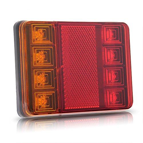Zimo®2x 8 LED étanche Feu arrière étanche DC12V pour Camion Remorque Bateau