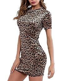 HANGUP Vestito Donna Moda O-Neck Vestiti Eleganti Abito Sexy Scollo A V  Senza Maniche Vestito b6f73674f5e