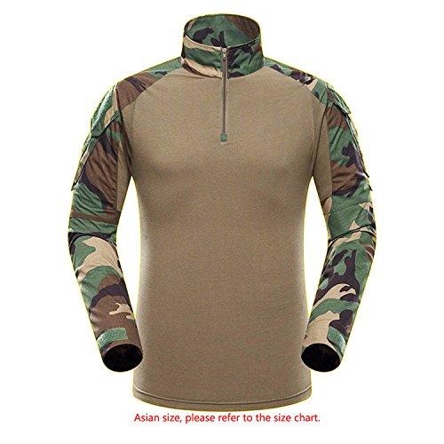 Männer Hemd, QMFIVE BDU Schießerei Kampf Langarm Camo für Taktisch Militär Armee Airsoft Paintballs(M) (Camo-kleidung Rosa)