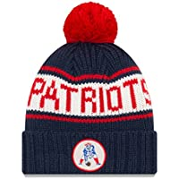 "New England Patriots New Era NFL 9Twenty Historic ""Retro Patch"" Cuffed Knit Hat"