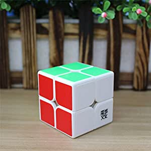 MoYu WeiPo 2x2 Speed Magic Cube Puzzle Game White With a MoYu Cube Bag weipo 2x2 vitesse moyu puzzle game cube magique moyu cube blanc avec un sac