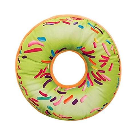 Housse de Coussin Donuts, Internet Taie d'oreiller en Peluche Souple (40cm x 40cm x 12cm, W)