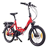 "NCM Paris MAX N8R E-Bike, E-Faltrad, 250W, 36V 14Ah 504Wh Akku, 20"" Zoll (Rot mit Rollenbremse (N8R))"